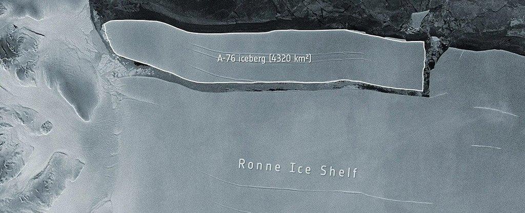 The A-76 iceberg.