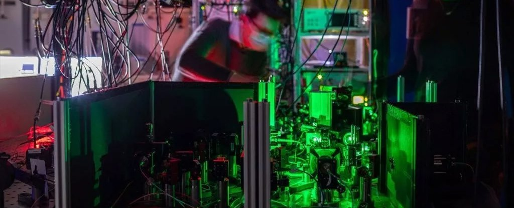 Researchers established the network using a complex system of lasers.