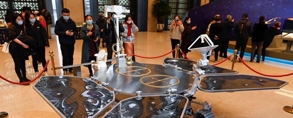 A model of the Tianwen-1 Mars rover at the National Museum of China.