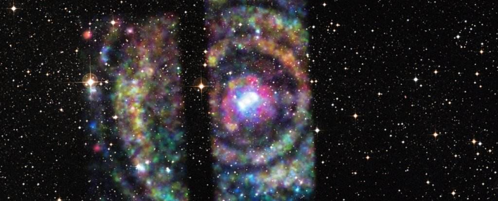Light echoes from a neutron star's X-ray outburst.