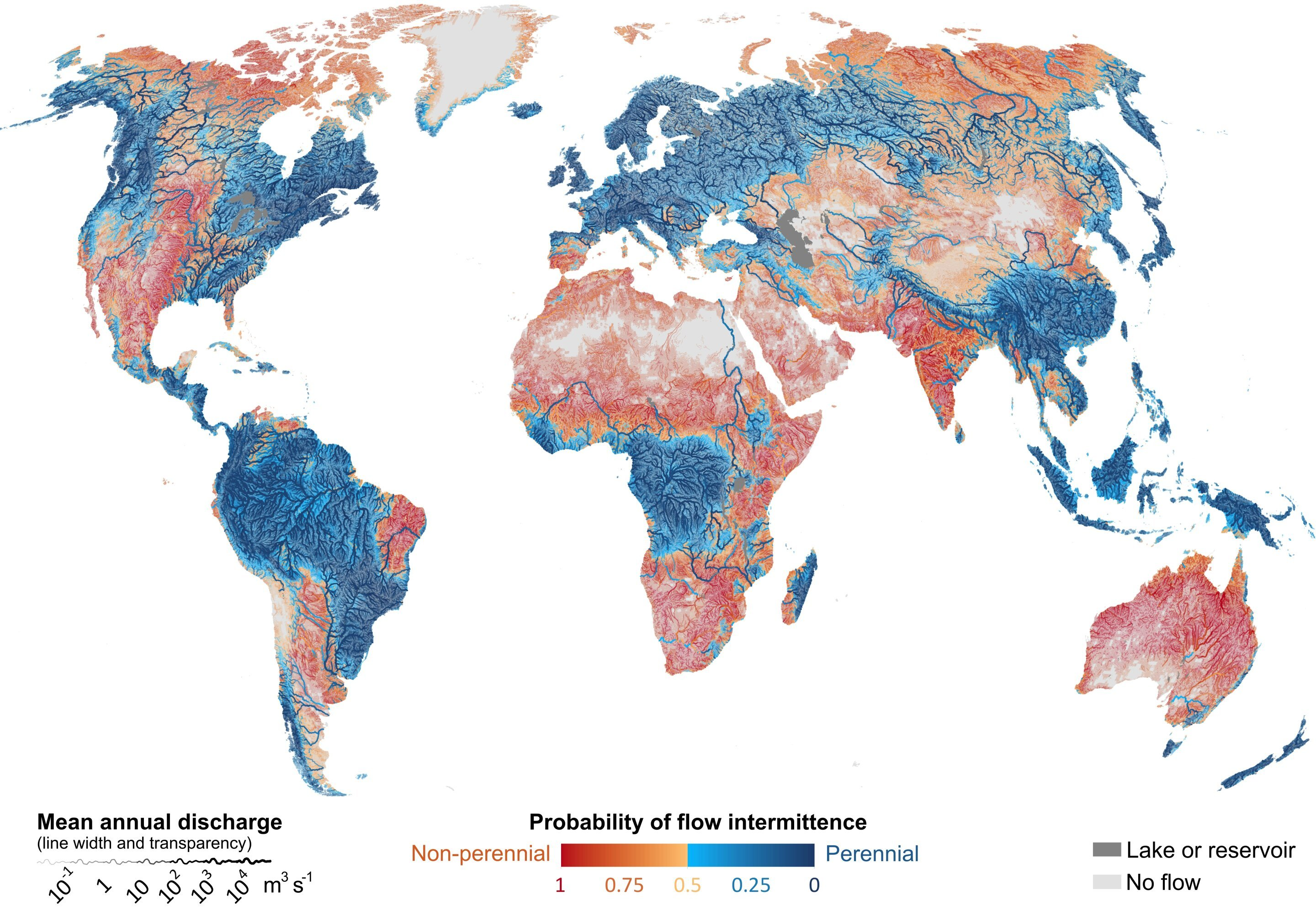 most rivers run dry