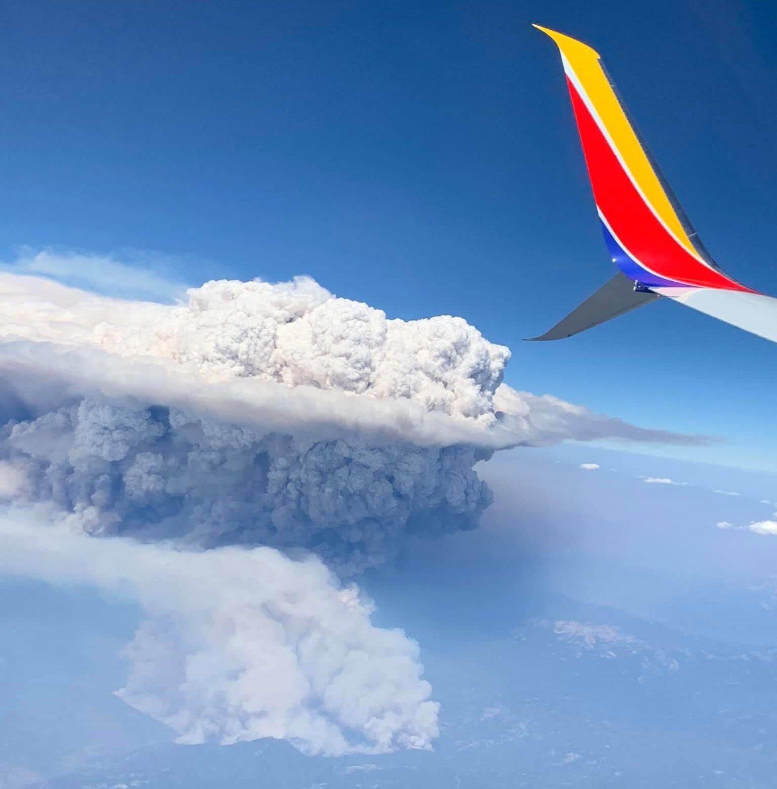 Pyrocumulonimbus cloud over the Creek Fire in California in 2020. (Thalia Dockery/Business Insider)