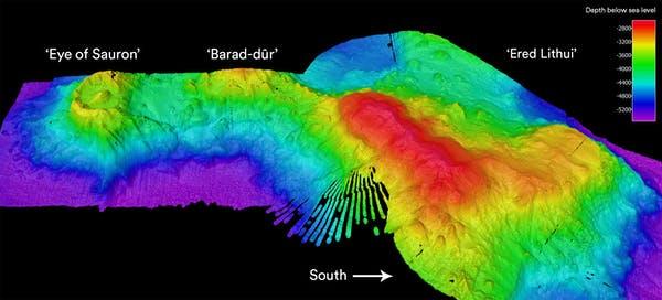 подводный сонар ока саурона, барад дур и эред литуи