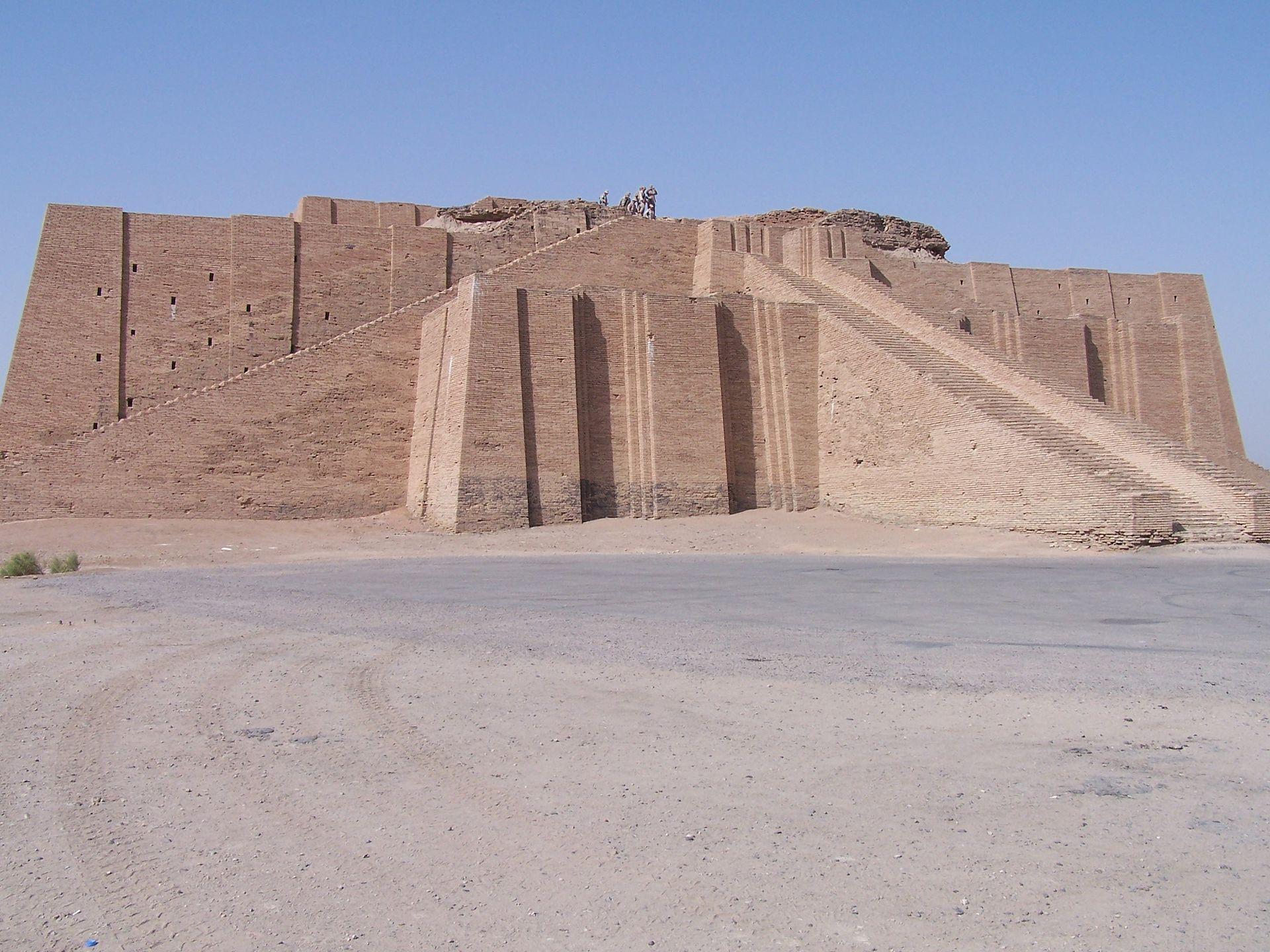 Ancient ziggurat at Ali Air Base Iraq 2005