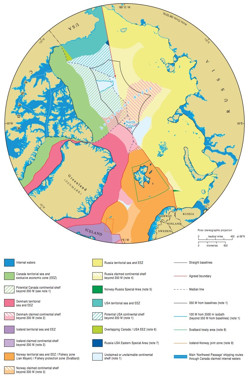 arctic territorial claims map This Map Shows All The Claims On The Arctic Seafloor arctic territorial claims map