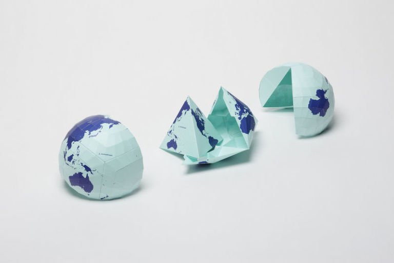 This Bizarre World Map Is So Crazily Accurate, It Actually Folds ...
