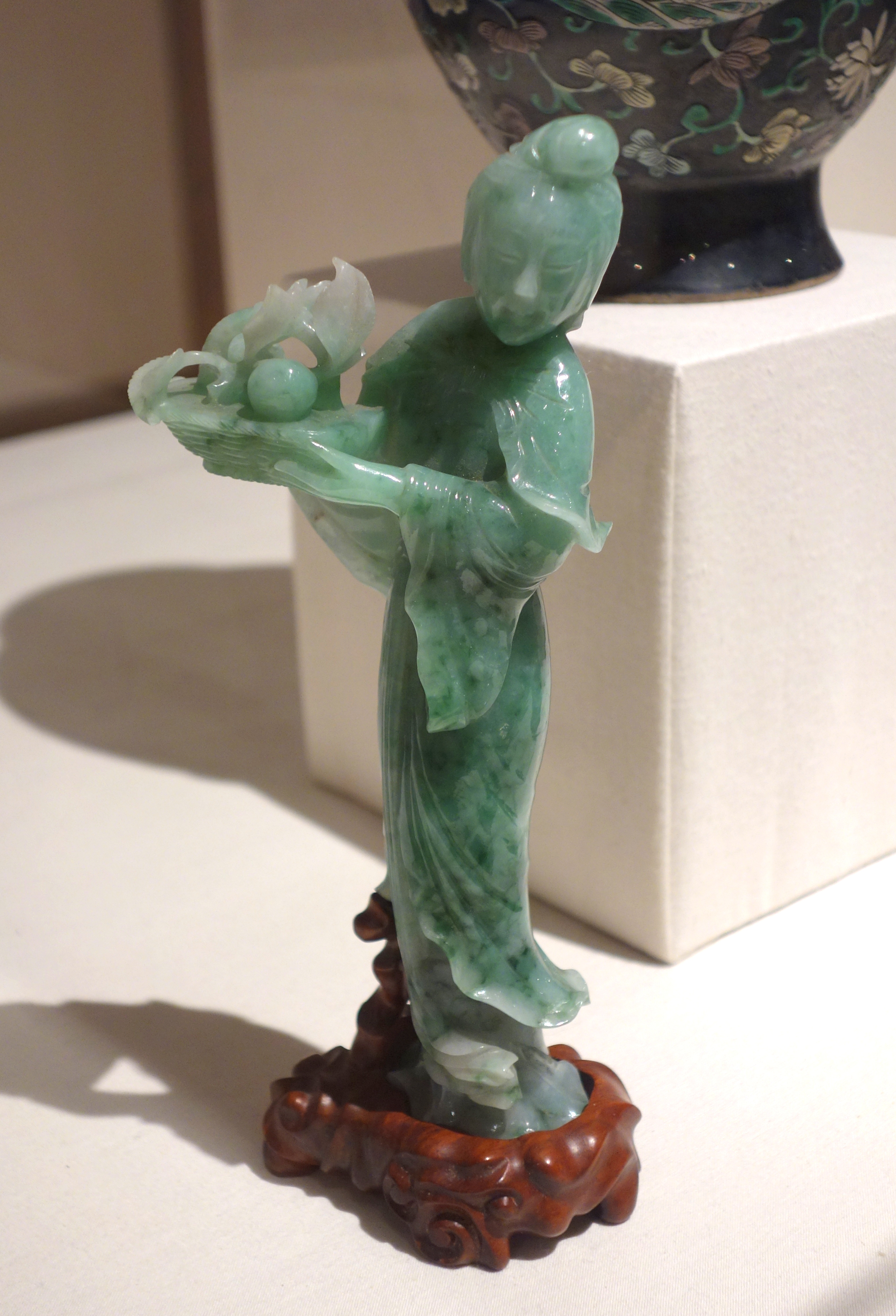 Chinese Figure of Lan Caihe Qing Dynasty Daoguang Period 1821-1850 jadeite - Huntington Museum of Art - DSC05256