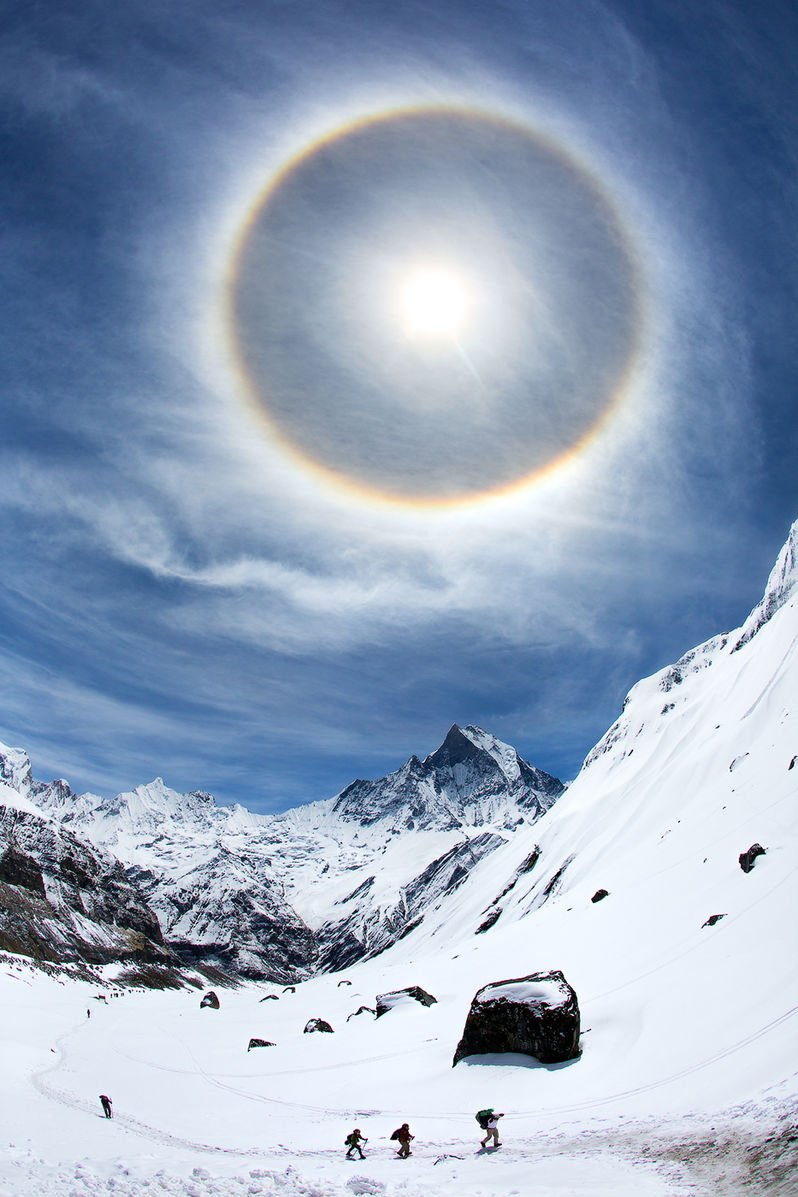Halo in the Himalayas