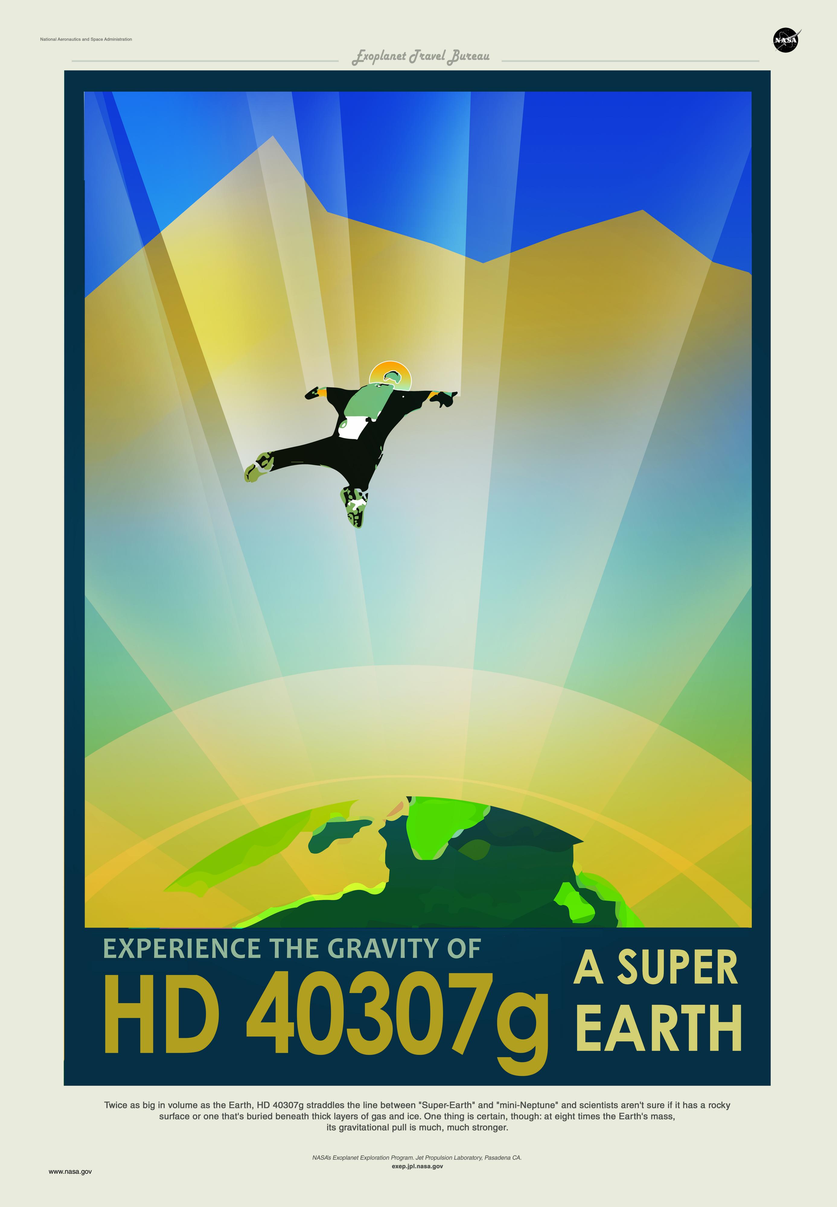 NASA Exoplanet Travel Bureau Multiple Sizes Kepler-186f Space Travel Poster