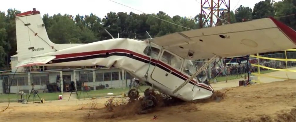 watch nasa intentionally crash this cessna to help save