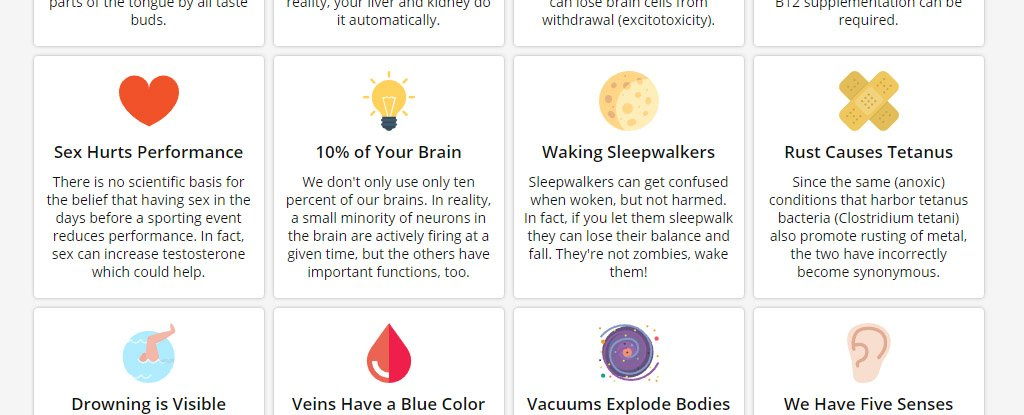 This Ultimate Infographic Breaks Down 100 of The Most Common Misconceptions