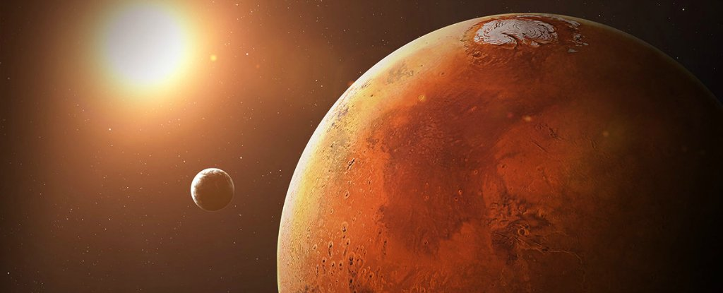 An analysis of the polar regions and atmosphere composition in mars
