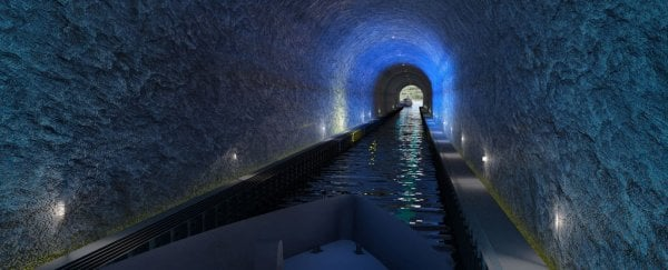 Norway is building the world's biggest tunnel for ships, and it's absolutely massive