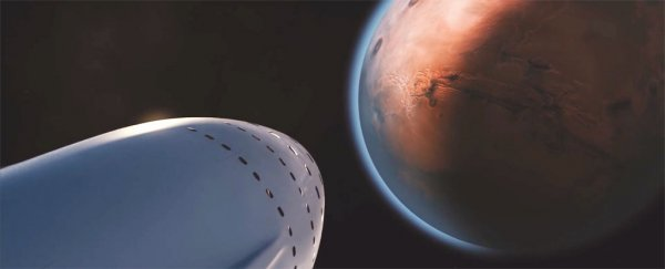 WATCH: Elon Musk just unveiled the spaceship that will take passengers to Mars