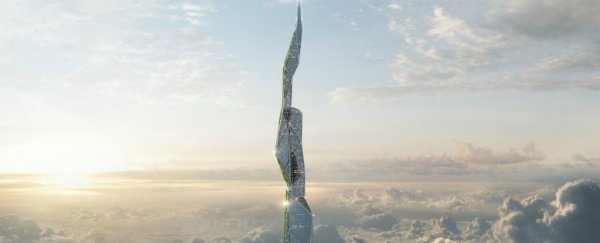 Engineers have released plans for a 5-km-high skyscraper that eats smog