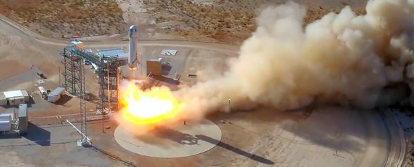 Blue Origin just launched 'Mannequin Skywalker' into space and safely returned it to Earth