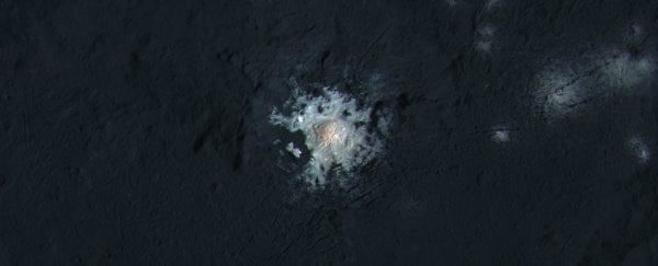 Astronomers might have finally figured out what Ceres' weird bright spot is made of