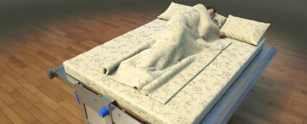 This terrifying bed could save your life during an earthquake