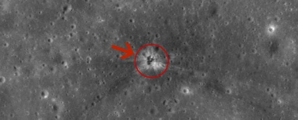 The crash site of Apollo 16's rocket booster has been spotted on the Moon