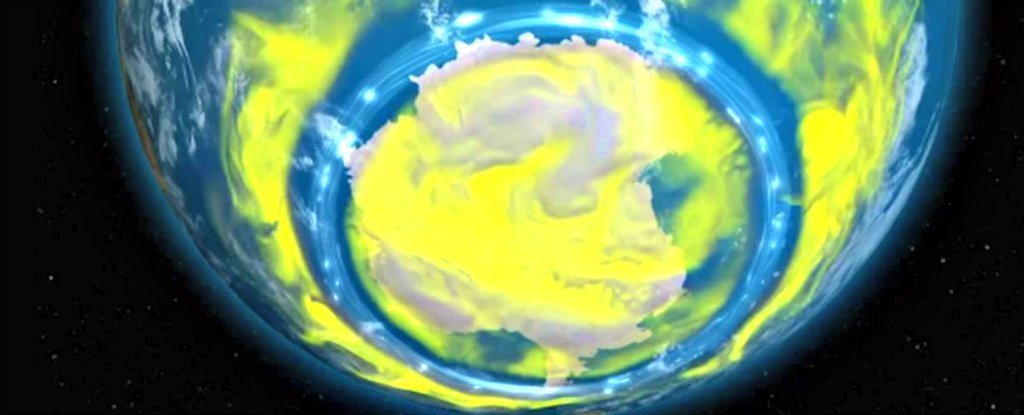 The Earth's Ozone Hole Is Shrinking And Is Now The Smallest It's Been Since 1988