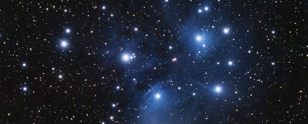 look up  the pleiades star cluster shines brightest this month