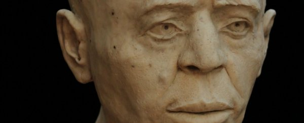 This is the reconstructed face of a 9,500-year-old Neolithic man