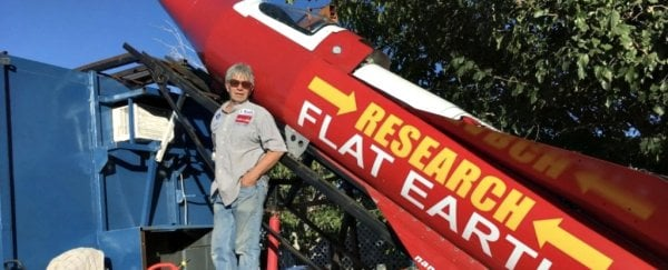 This man is launching himself in a homemade rocket to prove Earth is flat