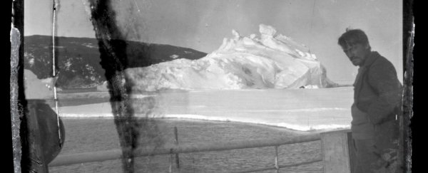 These 100-year-old photos were uncovered from the Antarctic ice