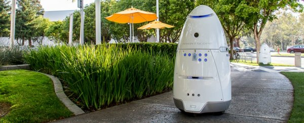 A mall security robot has knocked down and run over a toddler in Silicon Valley