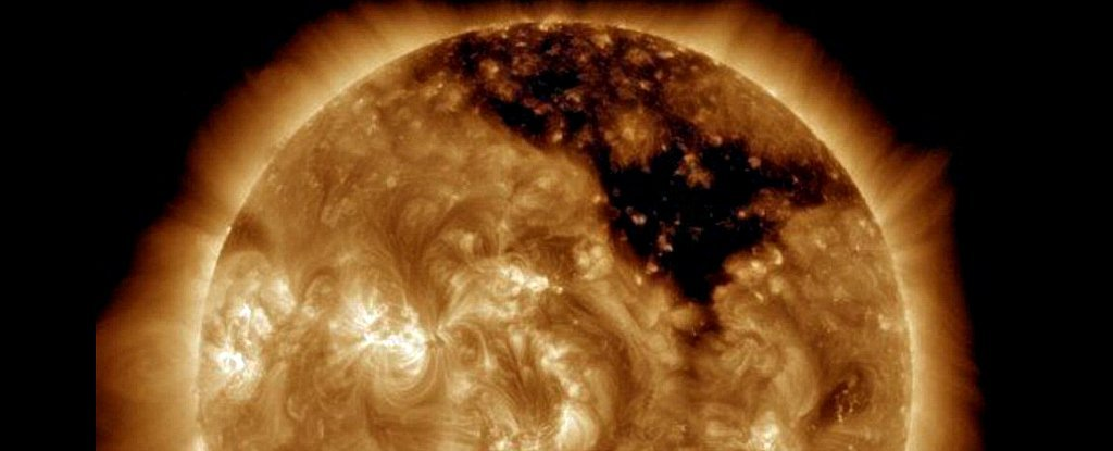 NASA Just Found a Huge Hole Growing on The Surface of The Sun
