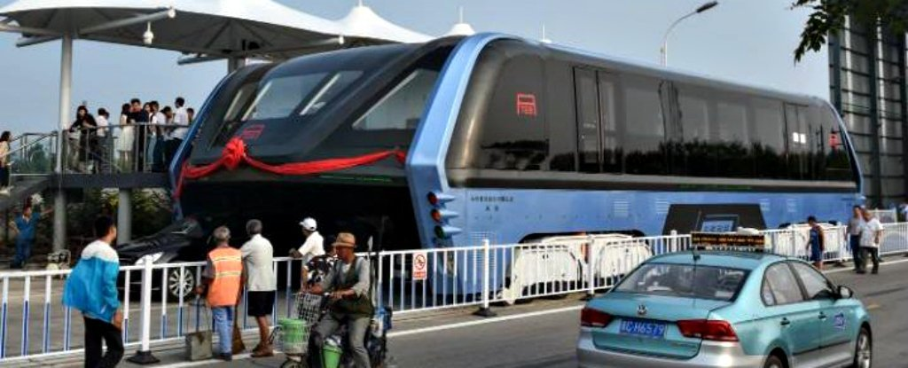 China's Actually Built That Awesome Bus That Drives Over Traffic