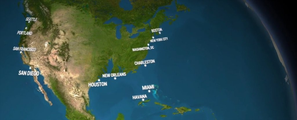 World Map If Sea Levels Rise.This Unsettling Animation Shows What Earth Would Look Like If All