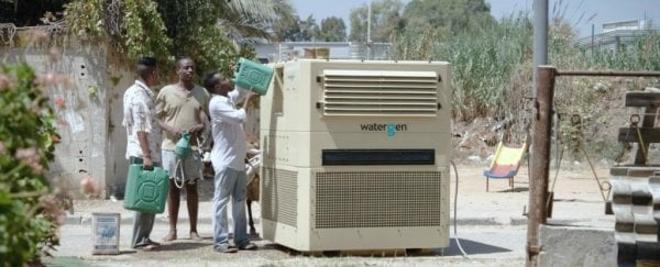 This device pulls clean drinking water out of thin air