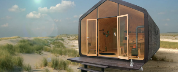 This tiny cardboard house takes 1 day to build and can last 100 years