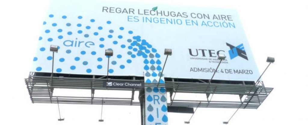 Watch This Billboard In Peru Sucks Water Out Of The Air