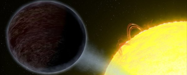 This extremely hot exoplanet is so black it eats up almost all visible light