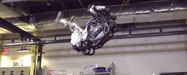 Humanoid robot from Boston Dynamics can now do a backflip and OMG