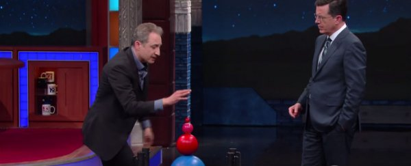 Physicist Brian Greene explains the most powerful explosions in the Universe to Colbert