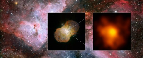 One of the most violent stellar battles in the galaxy has finally been photographed