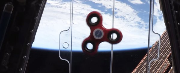 Here's what happens when astronauts use a fidget spinner in space
