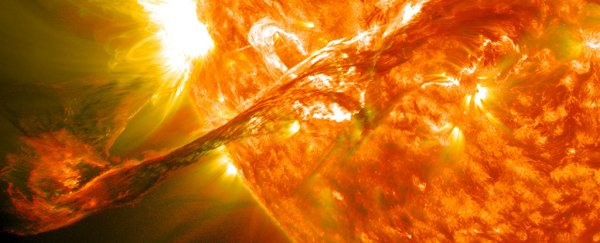 Scientists are proposing to protect Earth from solar flares with a gigantic shield