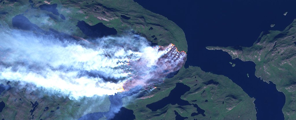 An Unprecedented Fire Is Raging Across Greenland Right Now