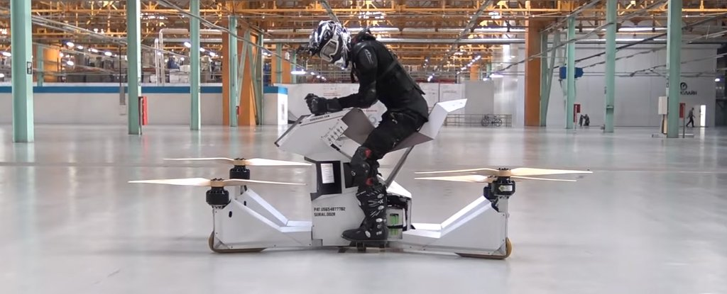 Watch The World S First Rideable Hoverbike In Flight