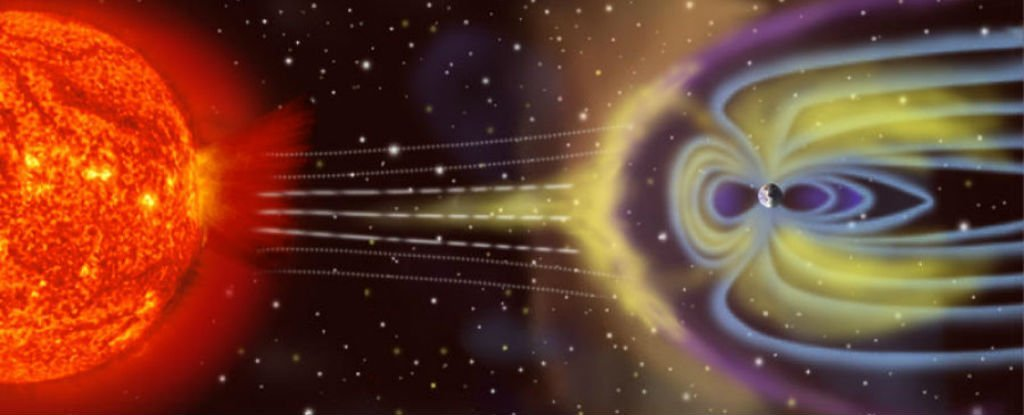 Electrons Outside Earths Magnetic Field - Magazine cover