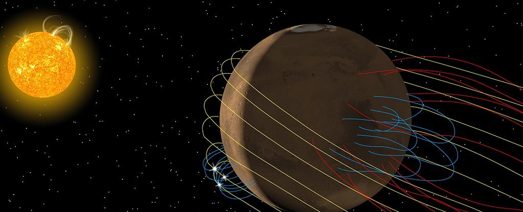 NASA Just Discovered a Huge, Twisted Magnetic Tail Hidden Behind Mars
