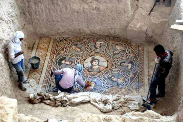 Three Stunning Ancient Greek Mosaics Unearthed on The Syrian Border