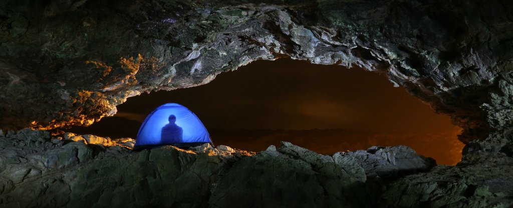 humans can sleep for days when living alone underground