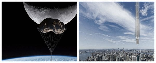 New York architects want to hitch a skyscraper to an asteroid and hang it over our cities