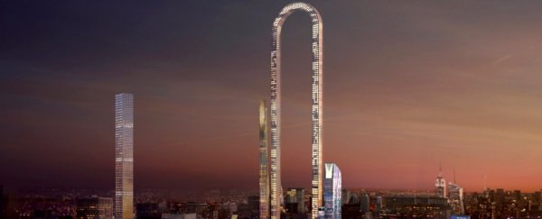 A giant U-shaped skyscraper designed for New York would be the longest building in the world