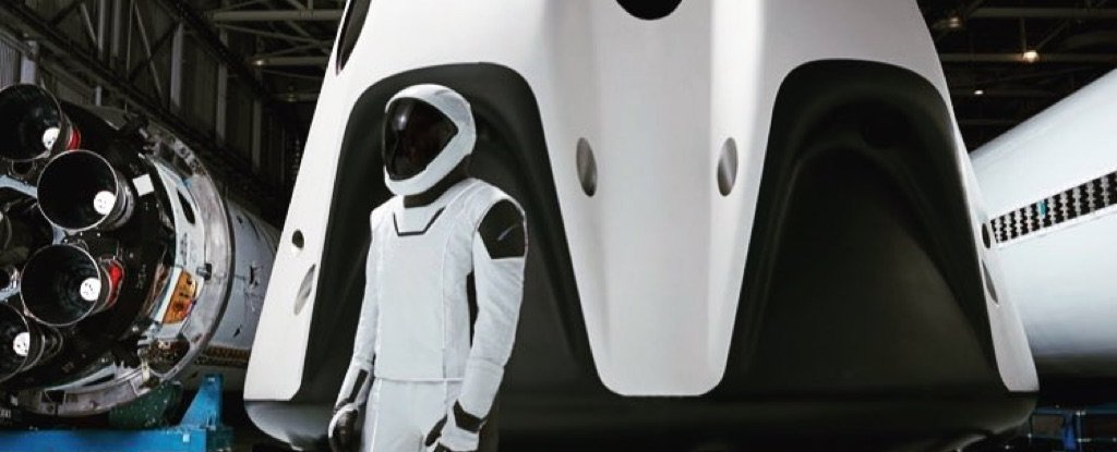 Finally, We Have a Full-Body View of SpaceX's Sleek Dragon Crew Spacesuit